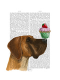 Great Dane and Cupcake Prints by  Fab Funky