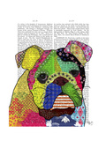 Patchwork Bulldog Prints by  Fab Funky