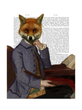 Fox with Flute Prints by  Fab Funky
