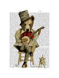 Banjo Bear Premium Giclee Print by  Fab Funky