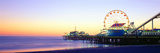 Santa Monica Pier at Sunset, California Papier Photo par Panoramic Images