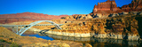 Hite Overlook and Cataract Canyon Bridge over Colorado River Photographic Print by Panoramic Images