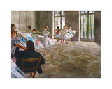 Rehearsal in the Studio, c.1878-1879 Premium Giclee Print by Edgar Degas