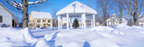 Gazebo and Town in Winter, Danville, Vermont Photographic Print by Panoramic Images