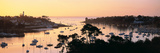 Sunrise over a Town at River Odet Estuary, Benodet, Finistere, Brittany, France Photographic Print by Panoramic Images