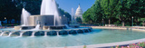 Fountain and Us Capitol Building in Morning, Washington Dc Photographic Print by Panoramic Images