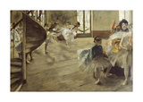 The Rehearsal, c.1874 Premium Giclee Print by Edgar Degas
