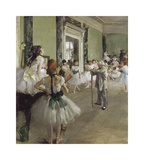 The Ballet Class, 1871-1874 Premium Giclee Print by Edgar Degas