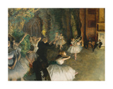 The Rehearsal of the Ballet Onstage, c.1874 Premium Giclee Print by Edgar Degas
