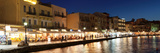 Promenade at Venetian Port, Chania, Crete, Greece Photographic Print by Panoramic Images