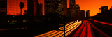 Downtown Traffic at Night, Los Angeles, California Photographic Print by Panoramic Images