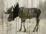 Camouflage Animals - Moose Giclee Print by Tania Bello