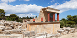North Entrance of Minoan Palace, Knossos, Iraklion, Crete, Greece Fotografisk tryk af Panoramic Images