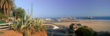 Santa Monica, Overlooking the Beach and Santa Monica Pier, California Photographic Print by Panoramic Images