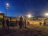 Riders Wait to Go into the Arena at the Dubois, Wyoming Rodeo Photographic Print by Jay Dickman