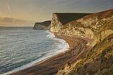 Cliffs Near Durdle Door at Sunset Looking Towards Weymouth Photographic Print by Nigel Hicks