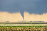 A Stove Pipe Tornado Touches Down over a Farmstead and Causes Lots of Damage and Destruction Photographic Print by Mike Theiss