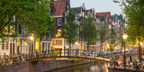 Bridge over Brouwersgracht in Western Grachtengordel Canal Ring at Dusk, Amsterdam Photographic Print by Green Light Collection