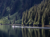 A Boat Cruising the Inside Passage of Southeast Alaska Photographic Print by Jay Dickman