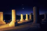 Planets and the Crescent Moon in Rare Alignment over the 2500-Year Old Palace of Cyrus the Great Photographic Print by Babak Tafreshi