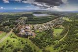 Aerial of Kualapuu Town, Molokai, Hawaii Fotografisk trykk av Richard Cooke III
