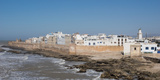 Wide View of the Old Part of Essaouira Seen from the Top of the Skala Du Port, Morocco Fotografisk tryk af Green Light Collection
