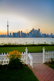 The Skyline of Toronto at Sunset from Front Yard of Home on Centre Island Photographic Print by Tim Thompson