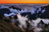 Clouds Form in the Caldera De Taburiente in a Time-Exposure Image Photographic Print by Babak Tafreshi