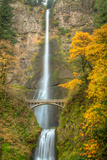 Multnomah Falls and Historic Bridge in the Columbia River Gorge National Scenic Area Photographic Print by Greg Winston
