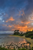Sunset at Morse Point Along the East End Road, Molokai, Hawaii Fotografisk trykk av Richard Cooke III