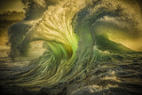 Wave Photo at Papohaku Beach, West End, Molokai, Hawaii Photographic Print by Richard A Cooke III