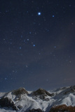 Sirius, and the Rest of Constellation Canis Major Above Snow-Covered Peaks of the Alborz Mountains Photographic Print by Babak Tafreshi