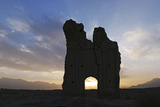 Sunset the at Thousand-Year-Old Ruins of the Ancient City Gate of Sar Yazd, or Farafar, Iran Photographic Print by Babak Tafreshi