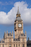 Low Angle View of Big Ben and Houses of Parliament, City of Westminster, London, England Photographic Print by Green Light Collection