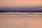 Icebergs on the Jokulsarlon Glacial Lagoon, Breidamerkurjokull, Vatnajokull Ice Cap, Iceland Photographic Print by Green Light Collection