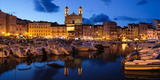 Old Town with Old Harbor and Eglise Saint-Jean-Baptiste De Bastia Photographic Print by Panoramic Images
