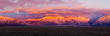 Sunset over Mountain Range, Sangre De Cristo Mountains, Taos, Taos County, New Mexico, Usa Photographic Print by Panoramic Images
