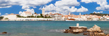 View of the Old Town of Rab Town, Island of Rab, Kvarner Region, Dalmatia, Croatia Photographic Print by Panoramic Images