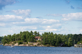Cottage and a Boathouse on Lake Muskoka, Ontario, Canada Photographic Print by Green Light Collection