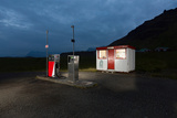 Gas Station in the Countryside, South Coast, Iceland Photographic Print by Green Light Collection