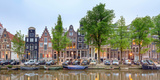 Houses and Boats Along the Herengracht Canal, Amsterdam, North Holland, Netherlands Photographic Print by Panoramic Images