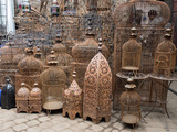 Bird Cages for Sale in Souk, Marrakesh, Morocco Photographic Print by Green Light Collection