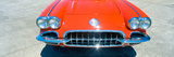 Restored Red 1959 Corvette, Front Close-Up, Portland, Oregon Photographic Print by Panoramic Images