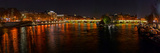 Night View of River Seine from Pont Des Arts Photographic Print by Panoramic Images