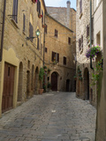 Buildings Along Side Street, Volterra, Tuscany, Italy Photographic Print by Green Light Collection