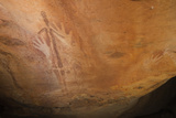 Gwion Gwion, also known as Bradshaw Rock Paintings, Found on Jar Island in Western Australia Photographic Print by Jeff Mauritzen