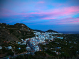 Aerial Sunset View of Frigiliana, Costa Del Sol, Malaga Province, Andalucoa, Spain Photographic Print by Green Light Collection