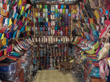 Shoe Store, Essaouira, Morocco Photographic Print by Green Light Collection