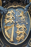 Crest on the Wrought Iron Gate at Buckingham Palace in London, England Photographic Print by Jeff Mauritzen