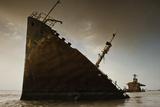 An Oil Tanker Scuttled Near the Kuwait-Iraq Border Photographic Print by Thomas Peschak
